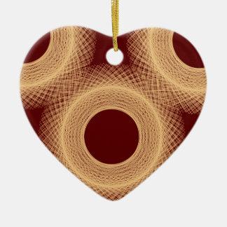 circle reddish brown 467 abstract art ceramic ornament