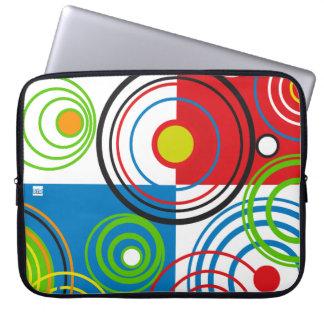 Circle Retro Pattern 15 Inch Laptop Sleeve