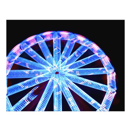 circle ride neon abstract circus fair midway flyer