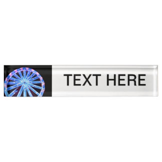 circle ride neon abstract circus fair midway nameplate