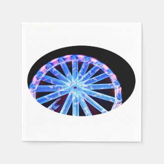 circle ride neon abstract circus fair midway standard cocktail napkin