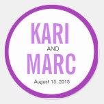 Circle Rim Outline Favor Decal | purple Stickers
