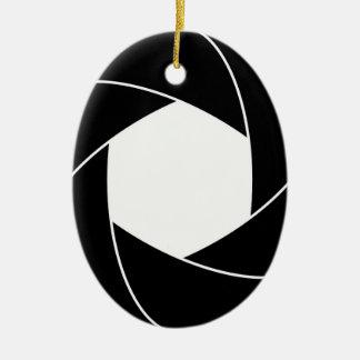 Circle Ring Design Ceramic Ornament