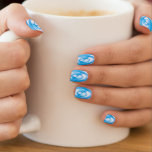 Circle ripples in blue water minx ® nail wraps