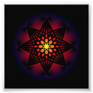 Circle Rune Grid Pattern Photo Print