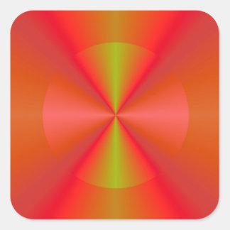 Circle Segmented Square Sticker