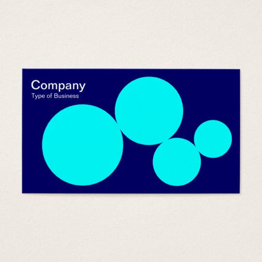 Circle Series - Cyan on Dp Navy Business Card