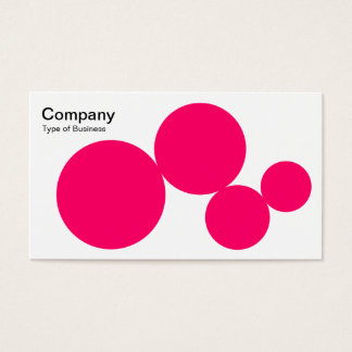 Circle Series - Neon Red on White Business Card