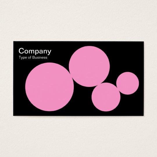 Circle Series - Pink on Black Business Card