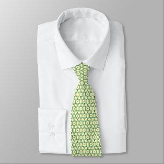 circle shape graphic design green lemon contempory tie