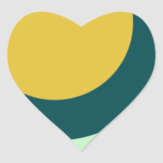 circle shape round shape heart sticker
