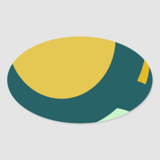 circle shape round shape oval sticker