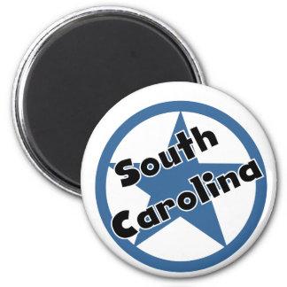 Circle South Carolina 2 Inch Round Magnet