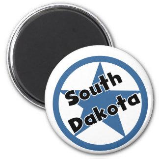 Circle South Dakota 2 Inch Round Magnet