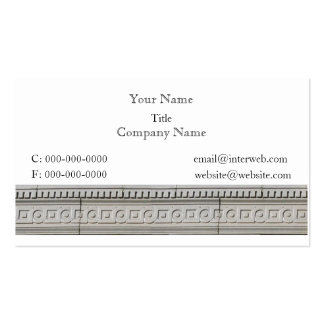 Circle Square Architectural Border Business Cards