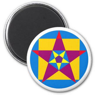 Circle square pentagon circle square pentacle 2 inch round magnet