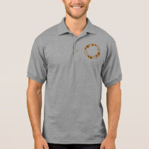 Circle squares orange pattern dizzy citrus blast polo shirt