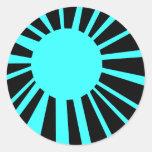 Circle Sun Round Sticker