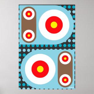 Circle Target Robot Buttons Poster