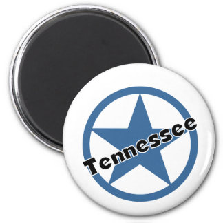 Circle Tennessee 2 Inch Round Magnet
