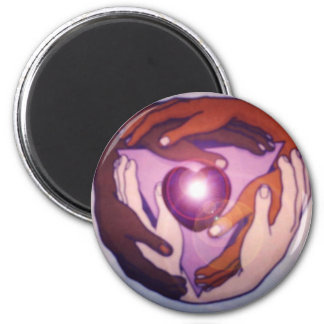 Circle The World 2 Inch Round Magnet