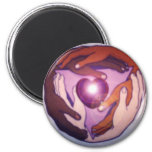 Circle The World Fridge Magnet