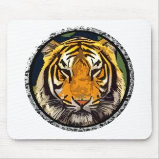 Circle tiger mouse pad