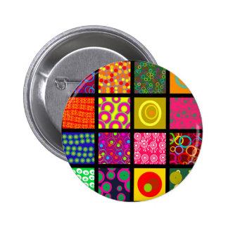 Circle Tile Wallpaper 2 Inch Round Button