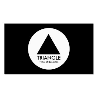 Circle - Triangle - Black Double-Sided Standard Business Cards (Pack Of 100)