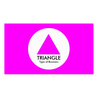 Circle - Triangle - Magenta Double-Sided Standard Business Cards (Pack Of 100)