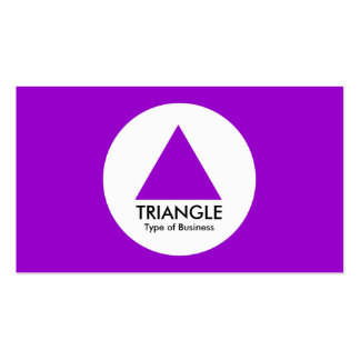 Circle - Triangle - Purple Business Card Template