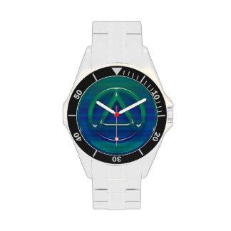 Circle Triangle Recovery Sobriety Watch Wristwatch