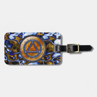Circle Triangle Sobriety Recovery AA Luggage Tags