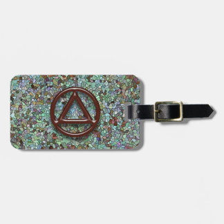 Circle Triangle Sobriety Recovery Luggage Tags