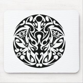 circle tribal tattoo design mouse pad