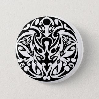 circle tribal tattoo design pinback button