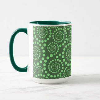 Circle Twirls custom mug - choose style