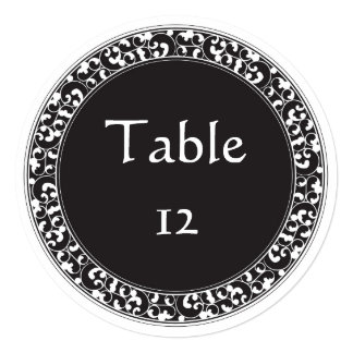Circle Vintage Black Design - Table Numbers