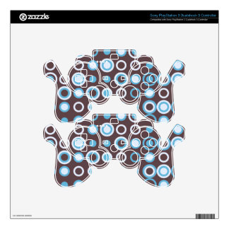 Circle vintage pattern PS3 controller decal