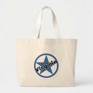 Circle Virginia Canvas Bags