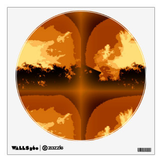 Circle Wall decal with Abstract Design by Admiro