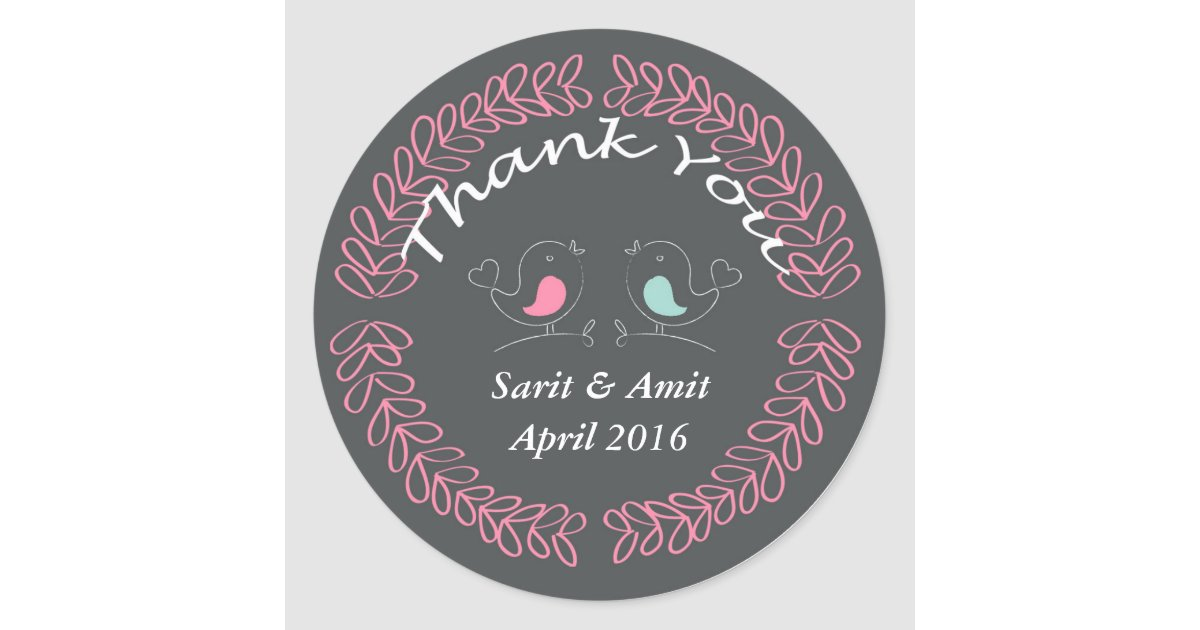 Circle Wedding Thank You Gift Tags Personalized Zazzle Com