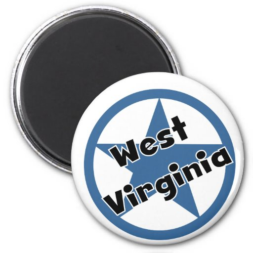 Circle West Virginia Fridge Magnets