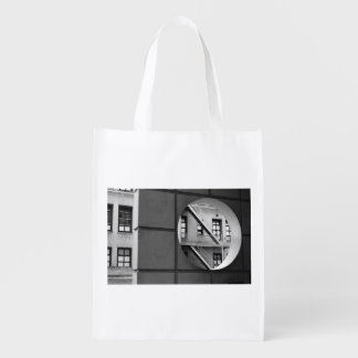 Circle With Fire Escape grocery bag