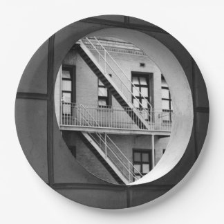 Circle With Fire Escape Paper Plate
