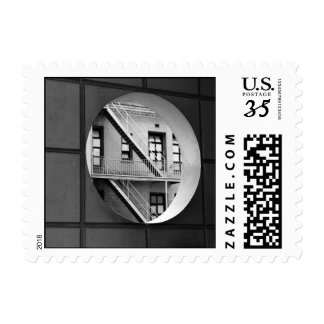 Circle With Fire Escape – Small Postage Stamp
