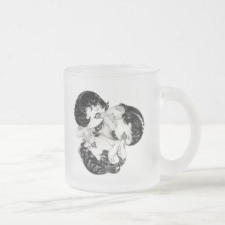 """Circle"" Yan Wei | 闫威 10 Oz Frosted Glass Coffee Mug"