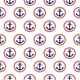 Circled Anchors Nautical Pattern Cutout