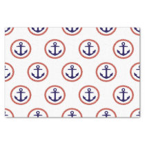 Circled Anchors Nautical Pattern Tissue Paper