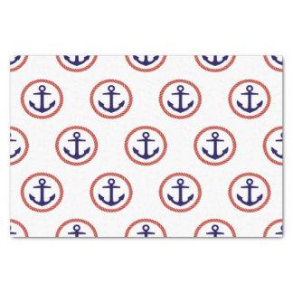 Circled Anchors Nautical Pattern Tissue Paper